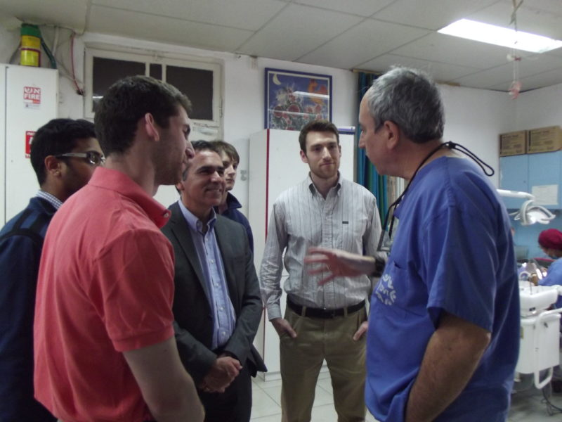 Drs. Trombly and Gonzalez with Students