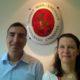 Drs Roy Petel and Kristiina Rämö at Finnish Embassy in Tel Aviv