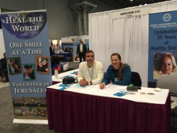 Dr. Roy Petel and Michelle Levine manned the AFDVI booth at the Greater New York Dental Meeting