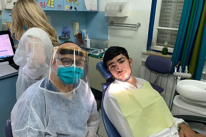 Dr. H with patient
